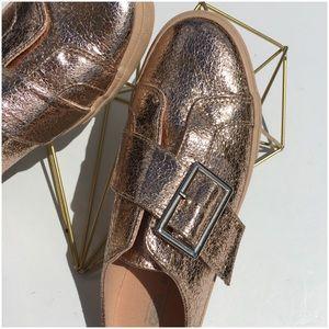 Asos Rose Gold Metallic Shoes